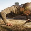 Man Doing Pushups on a Sunny Day