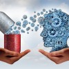 Nootropics Gears from Pill Going into Head