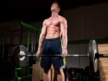 HGH User Lifting Weights