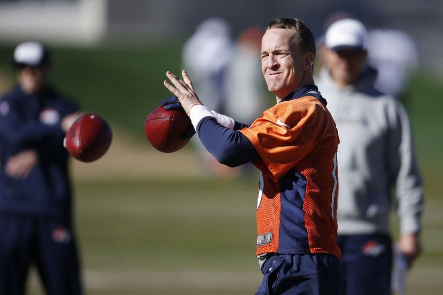 Peyton Manning Throwing Football Casually