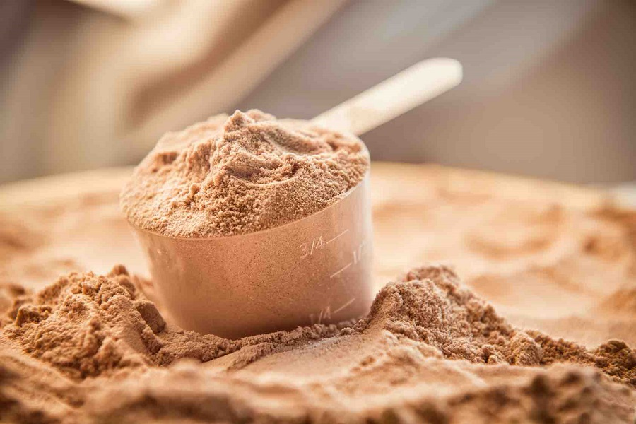 Whey protein scoope